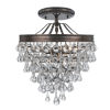 This item: Calypso Vibrant Bronze Three Light Crystal Teardrop Semi-Flush Mount