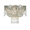 This item: Majestic Sold Cast Brass Ornate Crystal Two-Light Sconce