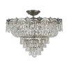 This item: Majestic Historic Brass Five-Light Crystal Semi-Flush