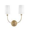 This item: Sylvan Vibrant Gold Two-Light Sconce