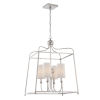 This item: Sylvan Polished Nickel Four-Light Chandelier by Libby Langdon