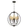 This item: Sylvan Dark Bronze Five-Light Chandelier
