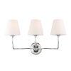 This item: Sylvan Three-Light Polished Nickel Bath Light