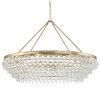This item: Calypso Vibrant Gold Eight-Light Chandelier