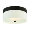 This item: Grayson Dark Bronze Three-Light Flush Mount
