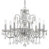 This item: Butler Polished Chrome 26-Inch Eight-Light Swarovski Strass Crystal Chandelier