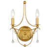 This item: Metro Antique Gold Two-Light Sconce