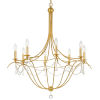 This item: Metro Antique Gold Eight-Light Chandelier