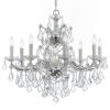 This item: Maria Theresa Polished Chrome Nine-Light Chandelier with Clear Swarovski Strass Crystal