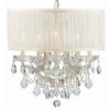 This item: Brentwood Polished Chrome Maria Theresa Chandelier with Clear Swarovski Strass Crystal and with Antique White Shade.