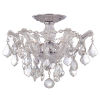 This item: Maria Theresa Polished Chrome Three-Light Semi Flush Mount with Hand Polished Crystals
