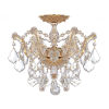 This item: Maria Theresa Polished Gold Three-Light Semi Flush Mount with Hand Polished Crystals