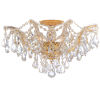 This item: Maria Theresa Polished Gold Five-Light Semi Flush Mount with Hand Polished Crystals