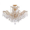 This item: Maria Theresa Gold 20-Inch 12-Light Semi Flush Mount with Clear Crystal