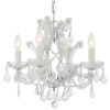 This item: Maria Theresa Polished Chrome Four-Light Chandelier with Swarovski Spectra Crystal