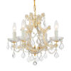 This item: Maria Theresa Gold Four-Light Chandelier with Swarovski Spectra Crystal