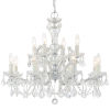 This item: Maria Theresa Polished Chrome Eight-Light Chandelier with Swarovski Spectra Crystal