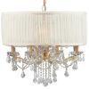 This item: Brentwood Gold Twelve-Light Pendant Draped In Clear Hand Cut Crystal