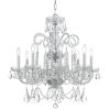 This item: Traditional Crystal Swarovski Spectra Crystal Polished Chrome Eight-Light Chandelier