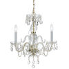 This item: Traditional Crystal Swarovski Strass Crystal Polished Brass Three-Light Chandelier