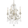 This item: Regis Olde Silver Four-Light Chandelier with Swarovski Strass Crystal