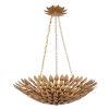This item: Broche Antique Gold Six-Light Gold Leaf Pendant Chandelier