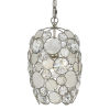 This item: Palla Antique Silver One-Light Mini Pendant with Natural White Capiz Shell and Hand Cut Crystal