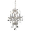This item: Traditional Wet White Four Light Mini-Chandelier with Clear Swarovski Strass Crystal