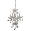 This item: Traditional Wet White Four Light Mini-Chandelier with Clear Spectra Crystal