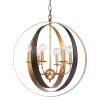 This item: Luna English Bronze and Antique Gold Six Light Sphere Large Chandelier