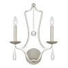 This item: Manning Silver Lead Two-Light Sconce