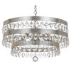 This item: Perla Antique Silver Five Light Chandelier with Clear Elliptical Faceted Crystal