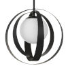 This item: Arlo One-Light Matte Black Chandelier