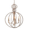 This item: Garland Distressed Twilight Three-Light Pendant with Clear Beads