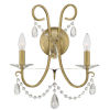 This item: Othello Vibrant Gold 14-Inch Two-Light Wall Sconce