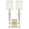 This item: Paxton Antique Gold Two-Light Sconce