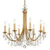This item: Bridgehampton Antique Gold 28-Inch Eight-Light Faceted Crystal Chandelier