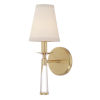 This item: Baxter Aged Brass One-Light Sconce