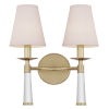 This item: Baxter Aged Brass Two-Light Sconce