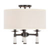 This item: Baxter Oil Rubbed Bronze Three-Light Ceiling Mount