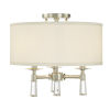 This item: Baxter Polished Nickel Three-Light Ceiling Mount