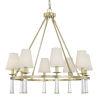 This item: Baxter Aged Brass Eight-Light Chandelier