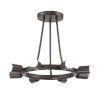 This item: Dakota Charcoal Bronze Eight-Light Ceiling Mount