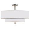 This item: Luxo Satin Nickel Five Light Semi-Flush