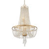 This item: Arcadia Antique Gold 18-Inch Four-Light Chandelier