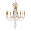 This item: Arcadia Antique Gold 26-Inch Eight-Light Chandelier