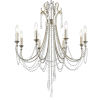 This item: Arcadia Antique Silver Eight-Light Chandeliers