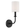 This item: Bailey Matte Black Five-Inch One-Light Wall Sconce