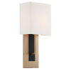 This item: Brent Vibrant Gold and Black Forged Seven-Inch One-Light Wall Sconce