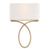 This item: Brinkley Vibrant Gold 10-Inch Two-Light Wall Sconce
